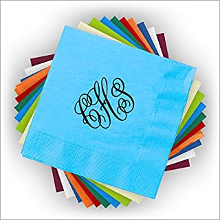 Custom Foil Napkins - Beverage - with Monogram - 3279M
