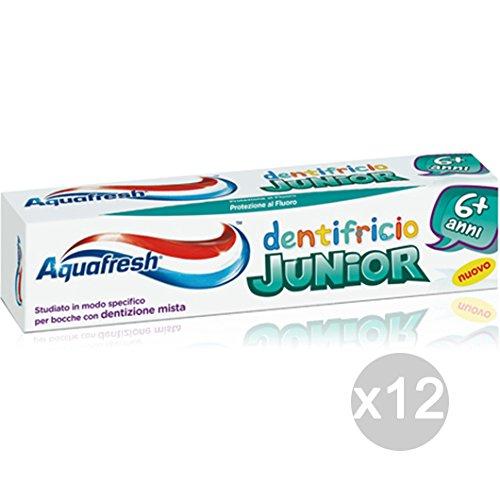 Set 12 Aquafresh tandpasta 75 Junior + 6 jaar kinderen hygiëne en verzorging van de tanden