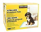 KIRKLAND Extra-Large Absorbent Pads, 100 Large Pads, 30'x23'