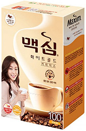 Maxim White Gold Instant Coffee - 100pks (Packaging May Vary)