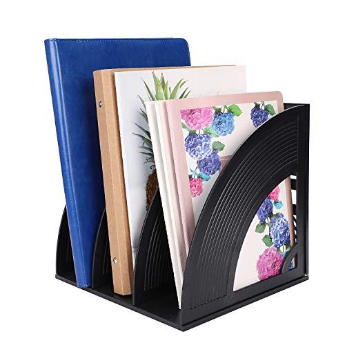Revistero de escritorio 3/4 compartimentos archivador de documentos papelera organizador de escritorio cesta de almacenamiento carpeta revista libro estantería/caja de almacenamiento