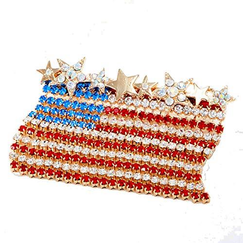 Kirks Folly Dancing Horizontal American Flag Pin goldtone