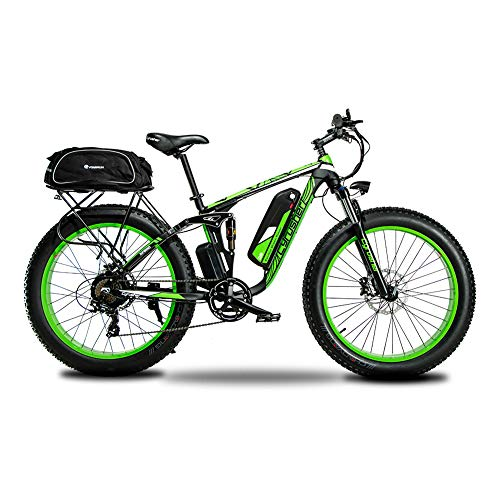Extrbici Electric Bike 750w / 1500w Fat Tire Upgraded 7 Speed Beach Cruiser Completamente Sospesa Mountain Bike Con Batteria Agli Ioni Di Litio Freni A Disco Idraulici A Disco