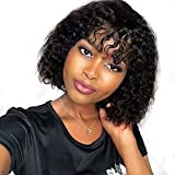 Best African American Wigs - ISEE Hair Curly Wave Human Hair Wig Review