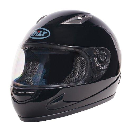 BILT 4 KIDS Strike Full-Face Motorcycle Helmet - SM, Black