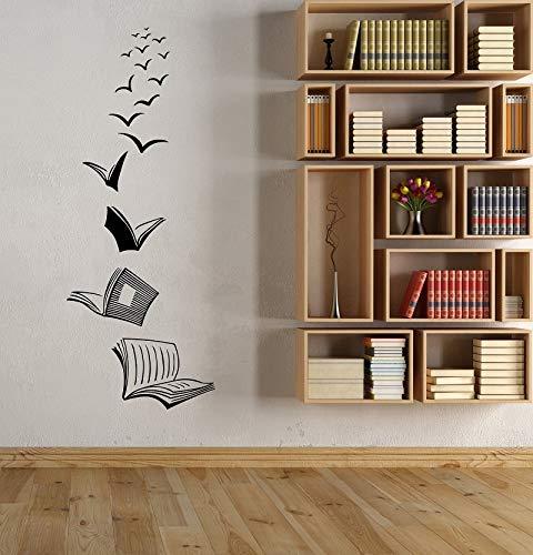 Libro de calcomanías abstractas como estudio de aves voladoras sala de lectura biblioteca escolar cafetería tienda de libros salón de clases dormitorio decoración de arte vinilo adhesivo de pared