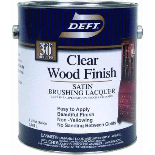 Deft 01701 Interior Lacquer, 1G Clear Wood Finish Brushing Lacquer