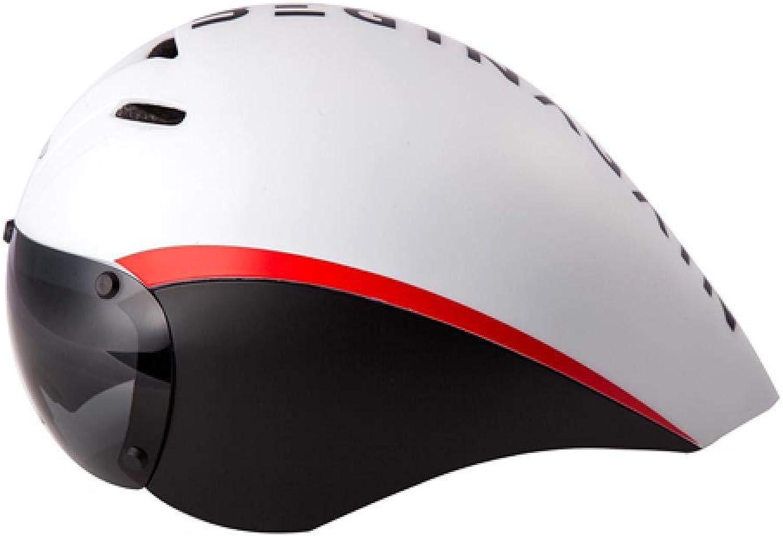 mejor marca LIUDATOU Casco de Bicicleta Lentes Gafas Aero Aero Aero Casco Ciclismo de Cocheretera Timetrial Casco de Bicicleta  venta con alto descuento