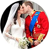 Royal Wedding - Prince William and Kate Middleton KISS AT THE PALACE ~ Large 2.25' Magnet
