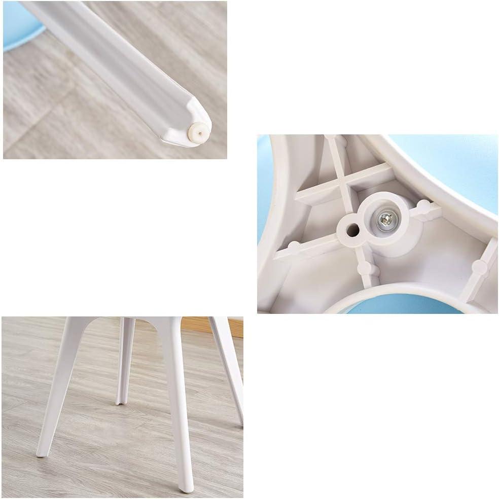 YYWDP Chaise De Salle À Manger en Plastique Au Design Moderne Chaises De Cuisine en Plastique avec Dossier Et Pieds en Plastique Épaissis Chaise De Salon (Couleur en Option),F E