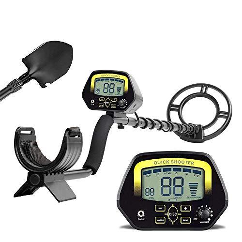 HUKOER Detector de Metales MD3030 Detector Profesional liviano de Alta sensibilidad de búsqueda en Oro, Joyas, Tesoros subterráneos en Aguas Poco Profundas con Pantalla LCD