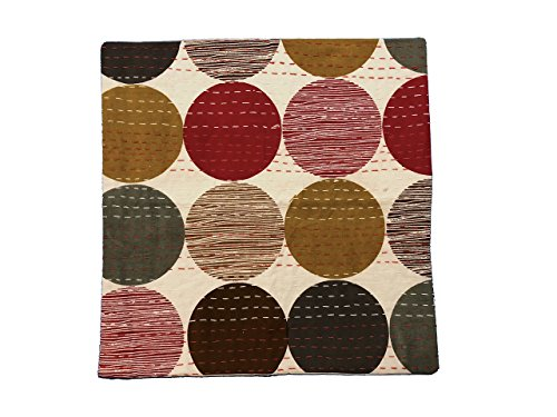 Geometric Circles Throw Pillow Cover, 16in x 16in