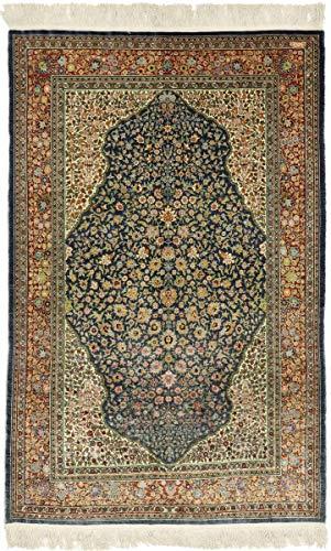 Nain Trading Herike Seide 179x116 Orientteppich Teppich Dunkelgrau/Dunkelbraun Handgeknüpft Türkei