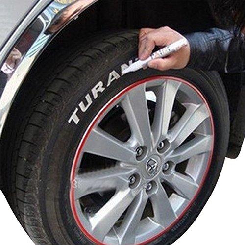 AAlamor Auto-Reifenmarker, wasserfest, weiß, universell