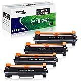 SINOPRINT - Pack de 4 Cartuchos de tóner compatibles para Brother TN2420 TN-2420 TN2410 TN-2410 Negro para HL-L2350DW MFC-L2710DW DCP-L2510D DCP-L2530DW HL-L2375DW HL-L2370DN L2310D MFC-L2730DW