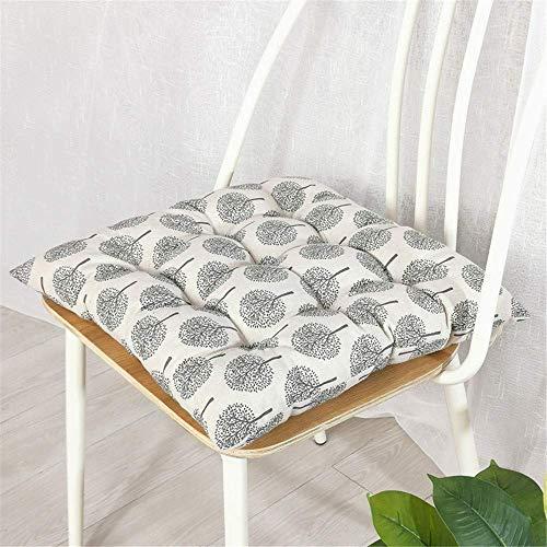 L.HPT Quadratische 2-Sitzer-Sitzpolster, dekorative Sitzpolster-Kissen, rutschfeste Gesteppte Sitzpolster Sitzkissen aus Baumwoll-Leinen für Gartenhäuser (Nr. 9,40 * 40 cm)