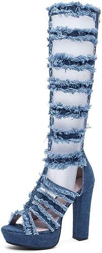 Sandales à La Mode Européenne Et Américaine à Talon Haut épais avec des Chaussures De (Couleur   B, Taille   41 EU)