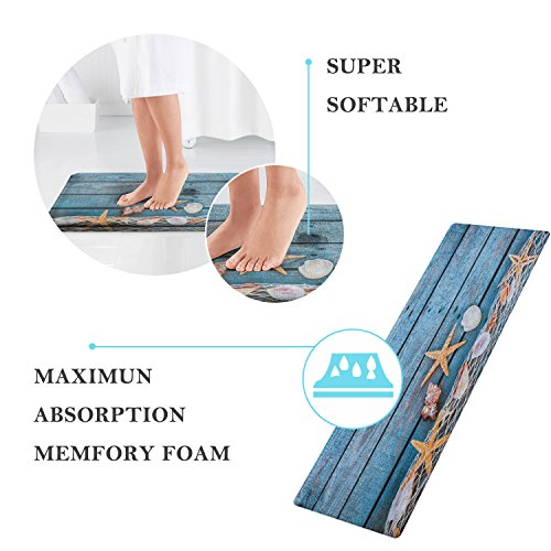 "QiyI Bath Mat Rug Super Soft Non-Slip Machine Washable Quickly Drying, for Office Door Mat,Kitchen Dining Living Hallway Bathroom 16""x48""-The Forest Under The Stars"