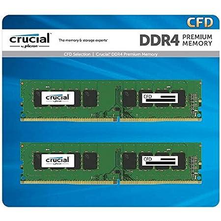 CFD販売 デスクトップPC用メモリ DDR4-2666 (PC4-21300) 8GB×2枚 288pin (無期限保証)(相性保証)(Crucial by Micron) W4U2666CM-8GR