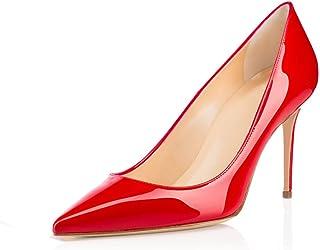 elashe- Scarpe da Donna - 8CM Scarpe col Tacco Pointy Toe - Classiche Scarpe col Tacco