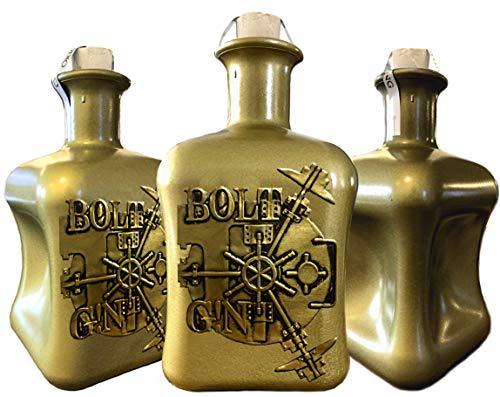 BOLT G!N Luxus Dry Gin | Sonderedition GOLD | aus deutscher Edelmanufaktur 3D Tresor wilde Bergamotte und Kardamom Geschenk TOP Qualität