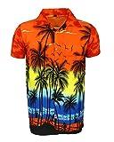 Camisa Hawaiana para Hombre, diseño de Palmeras, para la Playa, Fiestas, Verano y Vacaciones -...