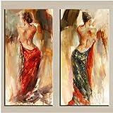 Jwqing Moderne Kunst Flamenco TänzerLeinwand Malerei