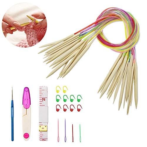 Corrines Knitting Needle Set -18 Pairs Round Color Tube