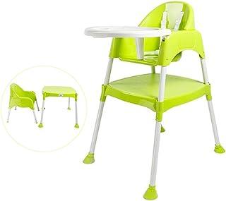 Luvlap Adjustable Plastic Feeding High Chair(8850)-Green, Piece of 1