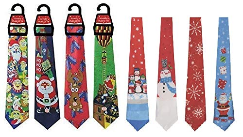 1 x Musical Christmas Tie for Adults - One Pack Sent at...
