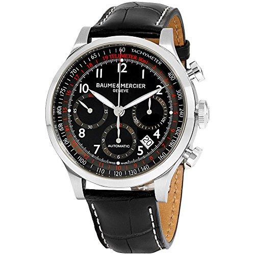 Baume & Mercier Capeland BMMOA10084 Herren-Armbanduhr, Analoganzeige, Schweizer Automatik, Schwarz