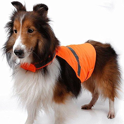 nikka(日華)反射ベスト セーフティードッグベスト 安全ベスト オレンジ Sサイズ ワンコ服 犬服 ドッグウェア