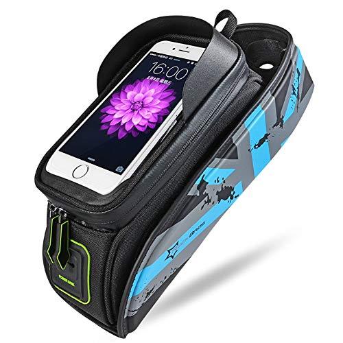 ASOSMOS Fahrrad- Tasche, Fahrrad Rahmen Tasche & Gepäcktasche für iPhone X / 6s/6s Plus/7/7 Plus/8/8 Plus ,Samsung Galaxy S7 S6 Plus und Andere 5.8