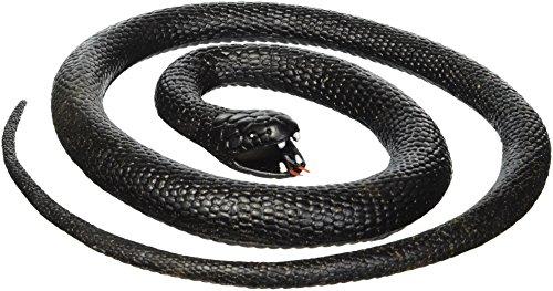 Wild Republic- Serpiente Mamba de Goma, Color Negro, 117 cm (20776)