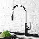 QIMEIM - Grifo mezclador para lavabo, grifo de lavabo, agua caliente y fría, juego de agua fría y caliente para baño y cocina