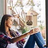 Wooden Bird House, Alonea Bird Feeder for Nesting Box Hanging Bird Nests,Grass Handwoven Hummingbird Home,Natural Bird Hut,Birdhouse for Kids,Songbirds House for Garden Decoration (B)