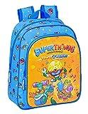 Safta Mochila Escolar Infantil de Superthings Serie 7, 270x100x330 mm, Azul/Multicolor