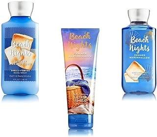 Bundle Pack Bath Body Works BEACH NIGHTS - SUMMER MARSHMALLOW Body Lotion, Body Cream & Shower Gel TRIO Pack