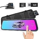 🚙【Full HD 1080P Cámara & 10 Pulgadas Pantalla Táctil】Con una pantalla táctil IPS HD de alta sensibilidad de 10 pulgadas, todos los ajustes pueden operarse en la pantalla táctil con el dedo, es muy conveniente y rápido. Pantalla grande de 10 pulgadas,...