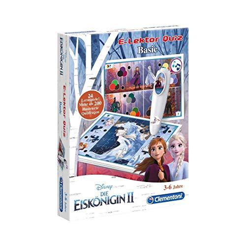 Clementoni 59141 E-Lektor Quiz Basic Disney – Frozen 2 (Die Eiskönigin), interaktives Lernspiel mit mehr als 200 Fragen, Spielzeug für Kinder von 3 - 6 Jahren, geeignet für Kindergarten & Vorschule