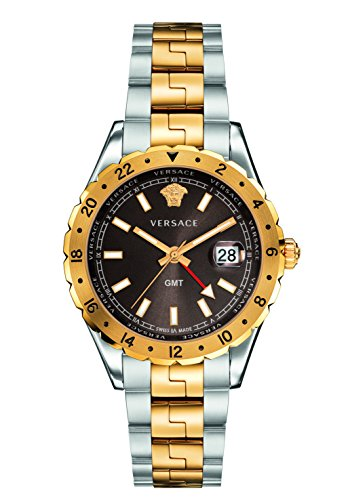 Versace Unisex Erwachsene Analog Quarz Uhr mit Edelstahl Armband V11040015