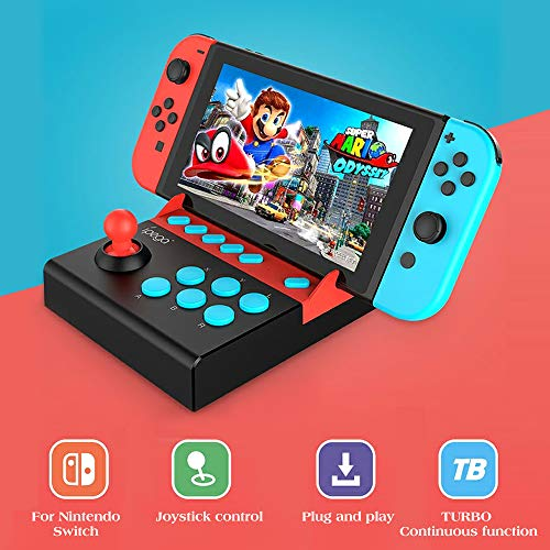 Walmeck Arcade Joystick für Nintendo Switch Gladiator Game Controller Joystick mit Turbo-Funktion