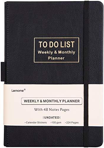 A5 Agenda Planner - Académico Planificador Semanal, Mensual y Anual sin Fecha con To-Do List. Papel Grueso Para Lograr sus Objetivos, 5.75 x 8.25 , Bolsillo Trasero con 48 Páginas de Notas