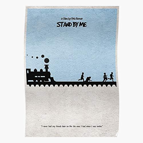 Rob Stephen Movie Reiner King Film by Old Train Me Running Stand Home Decor Wall Art Print Poster ! Home Decor Wandkunst drucken Poster !