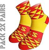 Pack 2 Pares Calcetines EKEKO TKS Prisma. Calcetin Técnico Deportivo, Ciclismo, Running, Tenis y Golf. (M(40-42)(UK 6.5-8), ESPAÑA)