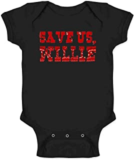 Save Us Willie Funny Country Music Political Infant Baby Boy Girl Bodysuit