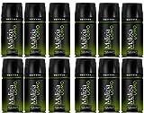 MALIZIA - Desodorante en spray para hombre, 150 ml, 12 unidades