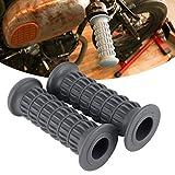 Manillar de la cubierta de los apretones de la motocicleta para 25-28mm accesorio de la motocicleta (gris)