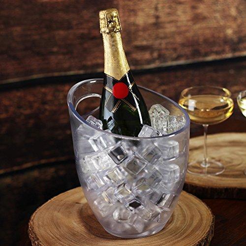bar@drinkstuff Eiskübel, gefrostet, Kunststoff, 3 l
