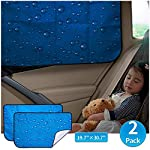 Car Sun Shade Double Thickness Rear Side Window Auto Windshield (Universal Fit for RV truck UV protection)